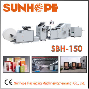 Sbh150 Full Servo Automatic Block Bottom Square Bottom Kraft Paper Bag Making Machine pictures & photos