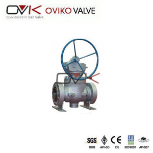 API Pneumatic Trunnion Mounted Stainless Steel Ball Valve
