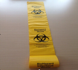 Yellow HDPE Material Bio Hazard Autoclave Bag pictures & photos