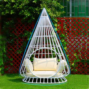Bird′s Nest Dome Sunshine Lounge Beach Circular Garden Furniture Rattan Sunbed T581 pictures & photos