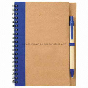 Promotional Eco Gift Recycled Paper Spiral Coil Notebook pictures & photos