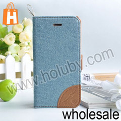 Kajsa Jeans Pattern Magnetic Leather Case for iPhone 5c with Card with Card Holder (T-iP5C-5225)