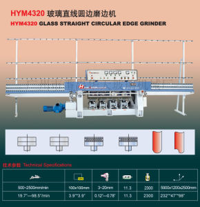 Glass Straight-Line Round Edging Machine pictures & photos