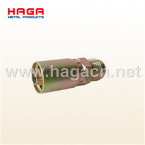 Jic 37 Male Rigid One Piece Hydraulic Hose Fitting pictures & photos