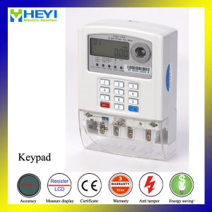 Keypad Prepaid Electrical Meter Single Phase Two Wire Outdoor pictures & photos