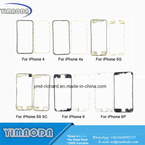 for iPhone LCD Front Touch Screen Plastic MID Bezel Frame with 3m Glue for iPhone 4G 4s 5 5g 5c 5s 6 6 Plus