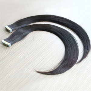 Dyeable Natural Color 100% Human Hair Tape Hair Extension pictures & photos