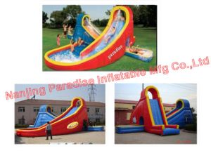 Inflatable Water Slide with a Pool (CH-010)