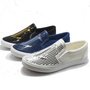Special Paillette New High Quality Comfortable Rubber Women Men Shoes pictures & photos