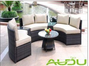 Audu Rattan Garden Furniture Round Tarrington House