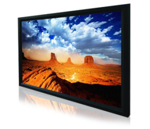 Home Cinema Fixed Wall Projection Screens with Black Velvet Border pictures & photos