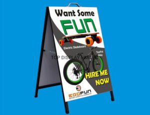 24 X 36 a Steel Frames & Sandwich Boards Poster Signs Blackboard Outdoor Chalk Double Graphics Portable Advertising Display Equipment Stand pictures & photos