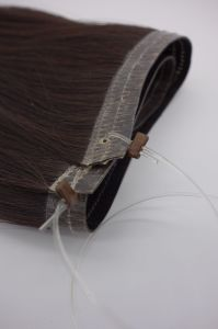 Double Drawn Human Hair Wefts Flip in Hair Extension Remy Hair Natural Hair pictures & photos