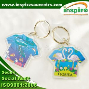 T-Shirt Shape Acrylic Keyring for Promotional Gift (AK-07) pictures & photos