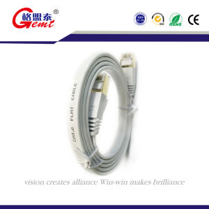 Nylon Braiding Cat7 Gold Plated Ethernet Cables pictures & photos