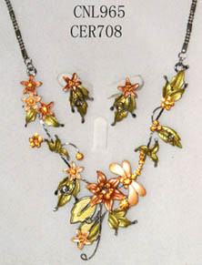 Coutume Jewelry - Necklace Set (CNL965 & CER798)