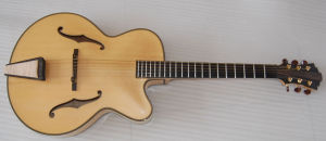 17inch 6strings Jazz Guitar Carved with Solid Wood