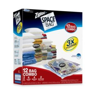 Ziploc Space Bag Vacuum Seal Bags 3-Piece Medium Dual Use - Vacuum or Roll out The Air! (3 Medium Bags) pictures & photos