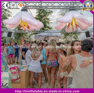 Inflatable Night Club Decor, Inflatable LED Flower with Five Petals