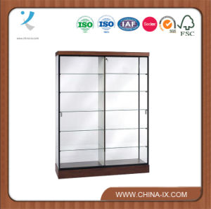 Customized Large Display Case with Glass Back & Sliding Door pictures & photos