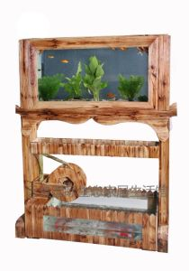 Acrylic Aquarium Into Log Screen, Log Screen Aquarium, Fish Tank