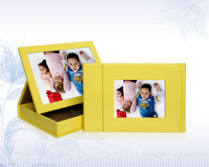 Yellow Baby Digital Album with Display Leather Box (PS-2931)