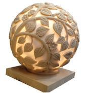 Sandstone Ball Carved Garden Statue Lamp pictures & photos