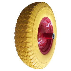 "16 Inch 16""X4.80/4.00-8 Flat Free PU Foam Wheel pictures & photos"