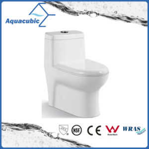 One Piece Dual Flush Round Front Bowl Toilet in White (ACT7805) pictures & photos