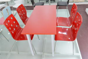 Fashionable Red Table and Chair for Restaurant Dining Room (FOH-CXSC57) pictures & photos