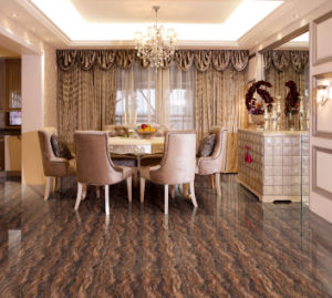 Brown Pearl Stone Polished Porcelain Tile pictures & photos