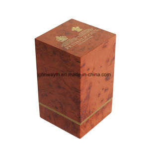 Customized Glossy Painting Plastic Perfume Box with Wood Grain