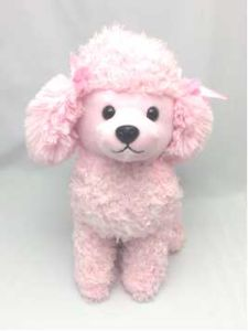 China Pink Plush Poodle Cute Dog Stuffed Toys For Children