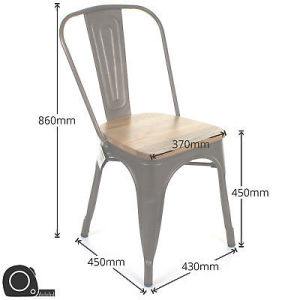 Foxhunter Metal Tolix Vintage Retro Bistro Industrial Steel Dining Chair  Mdc01