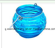 Blue Unique Garden and Home Glass Hanging Candle Holder (ZT-089) pictures & photos