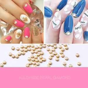 2016 Hot Selling Nail Art 3mm 4mm 5mm 6mm Alloy Pearl Decorations Nails