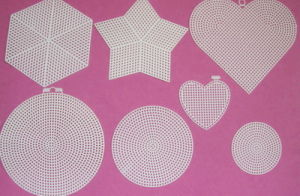 Plastic Canvas Shapes Ans Sheets Circle/ Star/ Small Heart/Hexagon