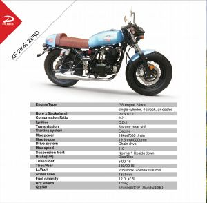 Cafe Racing Motorcycle 250cc