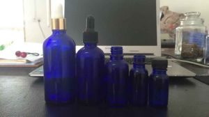 Blue Tubular Glass Dropper for Essential Oil Packing