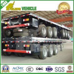 40FT 2/3/4 Axle Platmorm Container Transport Flat Bed Trailer