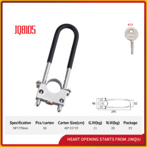 High Quality Aluminium Alloy Anti-Theft Combination Bicycle Lock U Shape Locks pictures & photos
