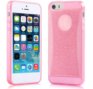 Glitter Ultra Thin Slim TPU Cell Phone Case for iPhone 6