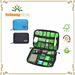 New Electronic Accessories Travel Bag Nylon Mens Travel Organizer for Date Line SD Card USB Cable Digital Device Bag pictures & photos