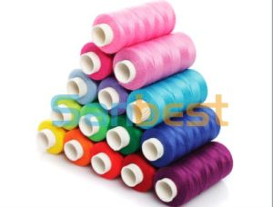 Colorful Poly/Poly Corespun Sewing Thread for Ladieswear pictures & photos
