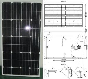 18V 110W 115W 120W Monocrystalline Solar Panel PV Module with Ce Approved (SMP-110W) pictures & photos