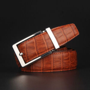 Men′s 100% Cowhide Belt Men′s Leather Belt Pin Buckle Retro