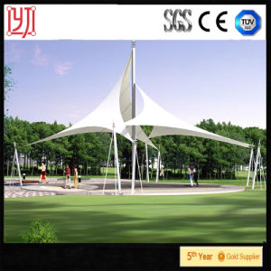 PVDF Steel Structure Two Hat Membrane Tent Tensiile Tent for Garden Landscape pictures & photos