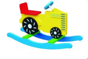 Cute Wooden Baby Chair Tractor Rocker for Kids and Children pictures & photos