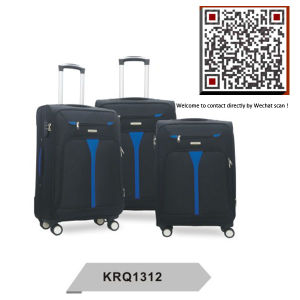 600d Polyester 4wheels EVA Inside Trolley Soft Luggage (KRQ1312) pictures & photos