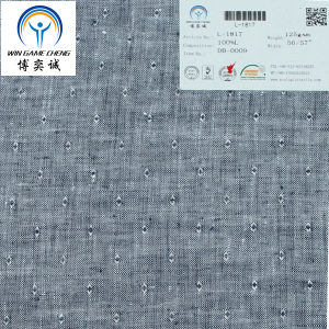 21*21 100% Linen Fabric for Garment pictures & photos